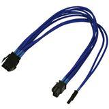 Nanoxia 30 cm blaues einzelsleeve Adapterkabel für 6-Pin PCI-E zu 6+2-Pin (NXP683EB)