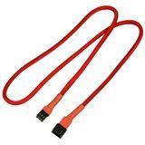 Nanoxia 60 cm rotes Verlängerungskabel für 3-Pin Molex