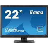 "22"" (55,88cm) iiyama ProLite E2280WSD schwarz 1680x1050 1xVGA /"