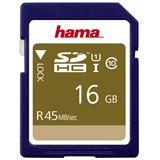 16 GB Hama UHS-I 45MB/s SDHC Class 10 Retail
