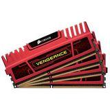 16GB Corsair Vengeance Red DDR3-2400 DIMM CL9 Quad Kit
