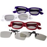 Hama 3D-Polfilterbrillen, Party-Set, 3x 3D-Brille, 2x Clip-On