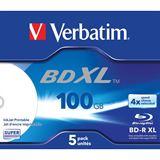 Verbatim BD-R XL 100 GB bedruckbar 5er Jewelcase (43789)