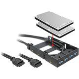 Delock USB 3.0 Front Panel und Einbauschacht für PC (61997)