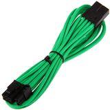 BitFenix 6+2-Pin PCIe Verlängerung 45cm - sleeved grün/schwarz