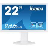 "21,5"" (54,61cm) iiyama ProLite B2280HS-W1 Weiß 1920x1080 1xDVI / 1xHDMI / 1xVGA"