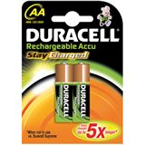 Duracell Stay Charged AA / Mignon Nickel-Metall-Hydrid 2000 mAh 2er
