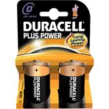 Duracell Plus Power LR20 Alkaline D Mono Batterie 1.5 V 2er Pack