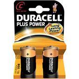 Duracell Plus Power LR14 Alkaline C Baby Batterie 1.5 V 2er Pack