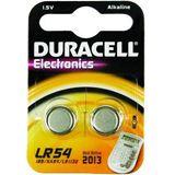 Duracell Electronics LR54 Alkaline 1.5 V 2er Pack