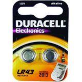 Duracell LR43 Alkaline Knopfzellen Batterie 1.5 V 2er Pack