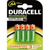 Duracell Recharge Plus HR06 Nickel-Metall-Hydrid AA Mignon Akku 1300 mAh 4er Pack