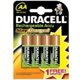 Duracell Stay Charged AA / Mignon Nickel-Metall-Hydrid 2000 mAh 4er