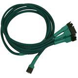 Nanoxia 60 cm grünes Adapterkabel für 3-Pin Molex zu 4x