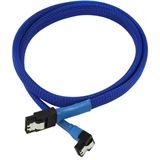 Nanoxia 0,6m SATA 6GB/s Anschlusskabel blau gewinkelt für