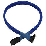 Nanoxia 0,3m SATA 6GB/s Anschlusskabel blau gewinkelt für