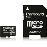 16 GB Transcend microSD Class 10 Retail inkl. Adapter