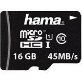 16 GB Hama UHS-I 45MB/s microSDHC Class 10 Retail