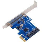 Silverstone 2x SATA 6Gb/s Erweiterung für PCIe x1 (SST-EC05)