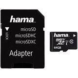 64 GB Hama UHS-I Mobile microSDXC Class 10 Retail inkl. 2 Adapter