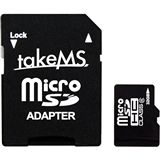 32 GB takeMS microSDHC Class 6 Retail inkl. Adapter