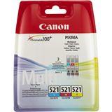 Canon Tinte CLI-521 2934B011 cyan, magenta, gelb