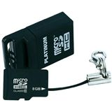 8 GB Platinum microSDHC Class 10 Retail inkl. USB-Adapter