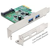 Delock 89356 2 Port PCIe 2.0 x1 retail