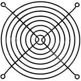 Cooltek Lüftergitter für 140mm Lüfter schwarz (Gitter
