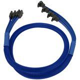 Nanoxia blaues 4-fach Kabel für SATA 3.0 (NXS6GBL)