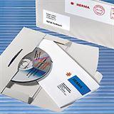Herma 100 CD-PostPack Versandkuvert mit Steckverschluss weiß 220x124 mm Kuvert für Versand (2002)