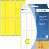 Herma 2421 gelb Vielzwecketiketten 2x7.5 cm (32 Blatt (320 Etiketten))
