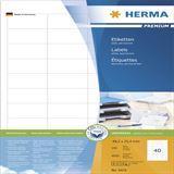 Herma Premium Universal-Etiketten 4.85x2.54 cm (100 Blatt (4000