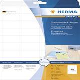 Herma 4684 Folie Transparent-Etiketten 5.25x2.97 cm (25 Blatt (1000 Etiketten))