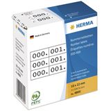 Herma 4800 weiß/schwarz selbstklebend 3fach Nummernetiketten