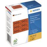 Herma 4802 rot/schwarz selbstklebend 3fach Nummernetiketten 1x2.2 cm