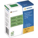 Herma 4805 grün/schwarz selbstklebend 3fach Nummernetiketten 1x2.2 cm (3000 Stück (000-999))