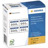 Herma 4833 selbstklebend 2 fach Anlagenummern 1.5x2.2 cm (1000