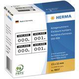 Herma 4837 selbsklebend 2 fach Anlagenummern 1.5x2.2 cm (1000