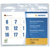 Herma 4857 blau selbstklebend Nummernetiketten 1.9x2.7 cm (100