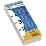 Herma 4890 selbstklebend Nummernblock-Etiketten 2.8x5.6 cm (500
