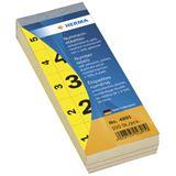 Herma 4891 selbstklebend gelb Nummernblock-Etiketten 2.8x5.6 cm (500 Stück (1-500))