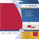 Herma 5048 neon-rot Universal-Etiketten 21.0x29.7 cm (20 Blatt (20