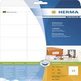 Herma 5055 Premium Universal-Etiketten 7x5.08 cm (25 Blatt (375
