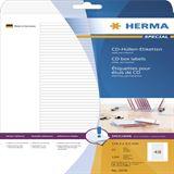 Herma 5078 Etiketten für CD-Box 11.43x5.5 cm (25 Blatt (1200