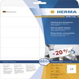 Herma 5081 ablösbar Universal-Etiketten 10.5x4.23 cm (25 Blatt (350 Etiketten))