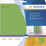 Herma 5099 blickdicht gruen Ordneretiketten 19.2x6.1 cm (20 Blatt (80 Etiketten))