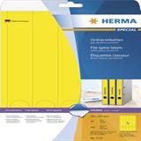 Herma 5131 blickdicht gelb Ordneretiketten 3.8x29.7 cm (20 Blatt (100
