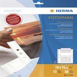 Herma Fotosichthüllen 100 x 150 mm quer weiß 10 Hüllen