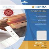 Herma Fotosichthüllen 200 x 300 mm hoch weiß 10 Hüllen